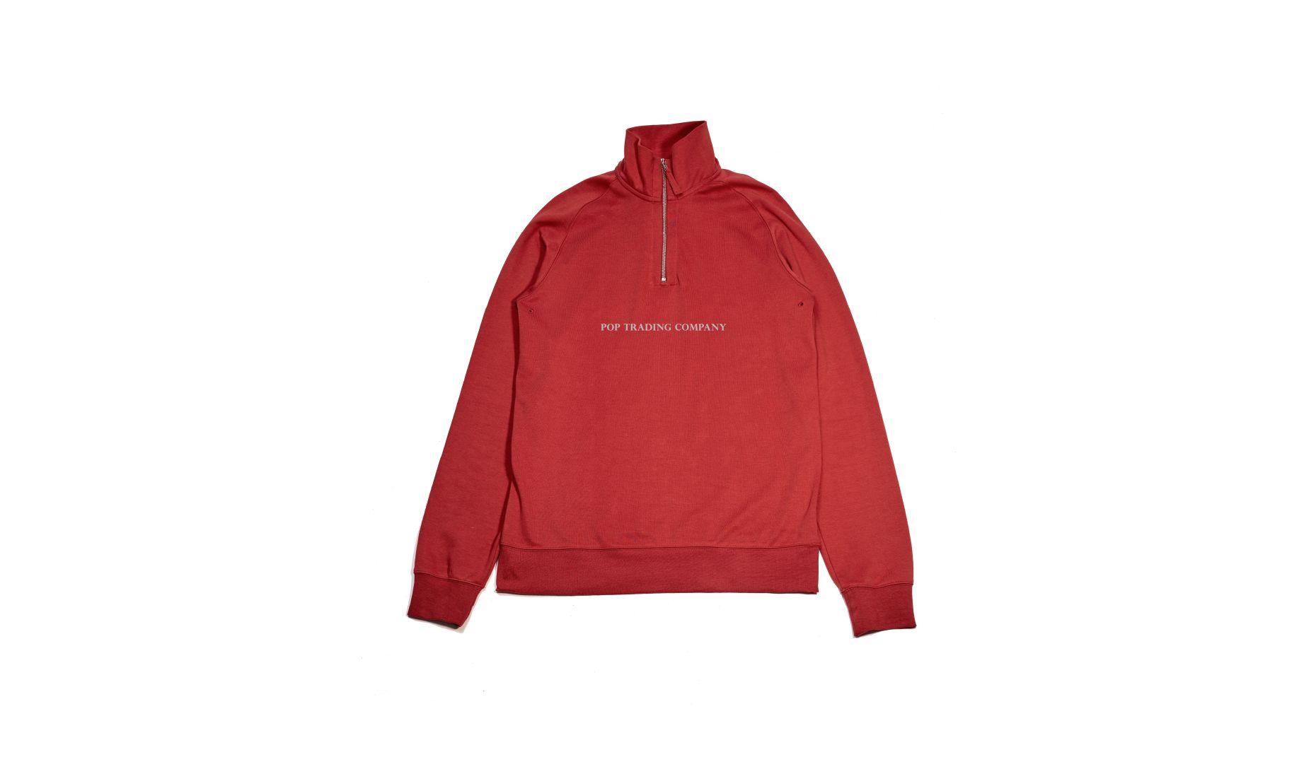 pop-trading-company-ss17-sportswear-lightweight-half-zip-pepper-red